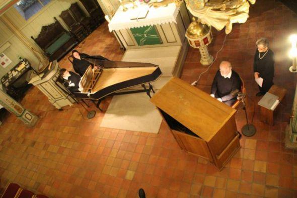 Dorothea Peppler am Cembalo, Dr. Karl Wurm am Orgelpositiv