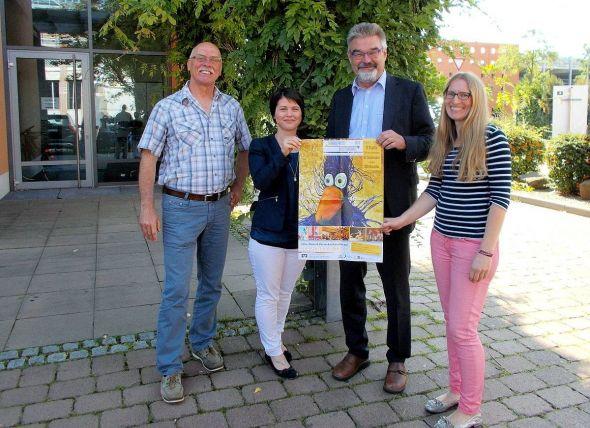 Setzen sich für die Kultur in der Region ein (von links): Reinhard Müller, Karin Friese (WRG), Detlev Barth und Kathrin Janßen. (Foto: R. Müller)