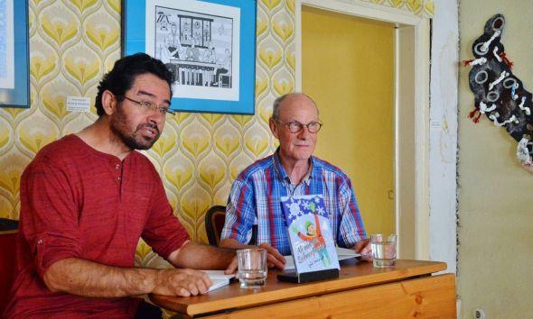 Aiman Aldarwish (links) und Hans-Joachim Wildner lasen auf Arabisch und auf Deutsch.