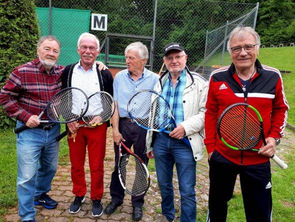 Die Lauterberger Herren 70 in Hildesheim  (von links): Wolfgang Lange, Jürgen Breitenstein, Otto Matzenauer, Jürgen Sablotny und Peter Lehnen.