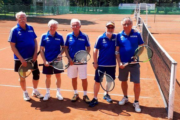 Haben momentan kein Glück mit Match-Tie-Breaks (von links): Karl Ziegenbein, Otto Matzenauer, Jürgen Breitenstein, Wolfgang Lange und Peter Lehnen.