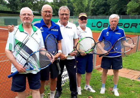 Die Herren 65 des TC Bad Lauterberg beim SV Gr. Ellershausen-Hetjershausen.