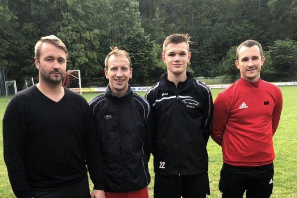 Verstärkung für den SC HarzTor: Stephan Jäckel , Bastian Vogt , Matthis Heitmüller , Marcel Bernhardt (von links)
