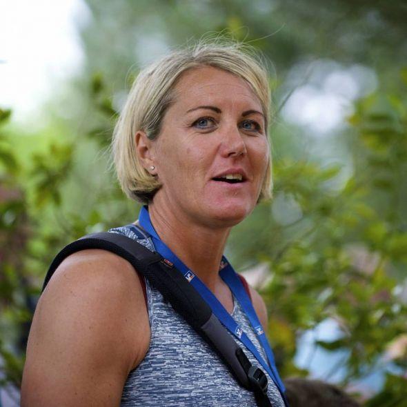 War 2016 als Trainerin in Osterode dabei und ist dieses Mal Ehrengast: Kugelstoßlegende Astrid Kumbernuss. (Foto: Wolfgang Böttner)