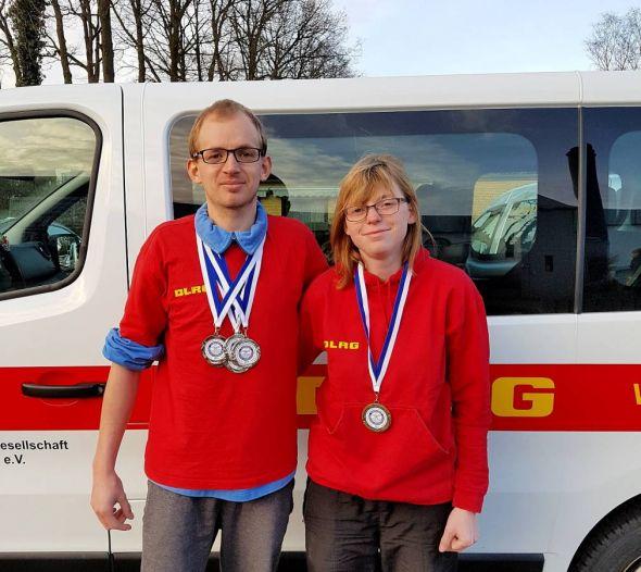Jacqueline Gleitz und Tom Täubert nach dem erfolgreichen Tag in Bremervörde.