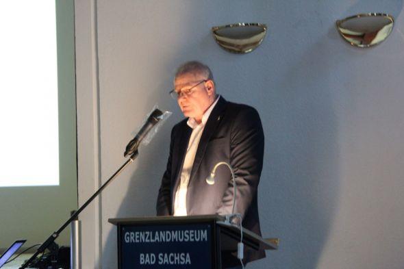 Herr Oberdiek bei seinem Vortrag