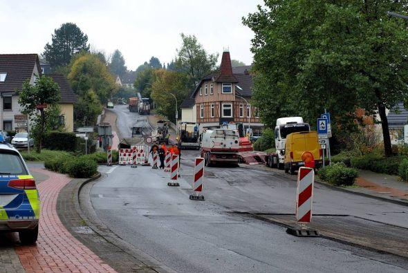 Im Oktober 2017 sorgte auch diese Baustelle auf der Kreisstraße am Butterberg in Bad Lauterberg für Unmut – sie war gegenüber der Öffentlichkeit überhaupt nicht angekündigt worden. (Foto: Boris Janssen)