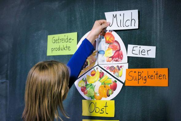 ABC, Einmaleins und Essen: Ernährung als neues Schulfach für alle – das fordert die Gewerkschaft NGG. Dabei sollen Schüler lernen, woraus ihr Essen besteht, woher es kommt und wie es produziert wird. (Foto: Tobias Seifert / NGG)