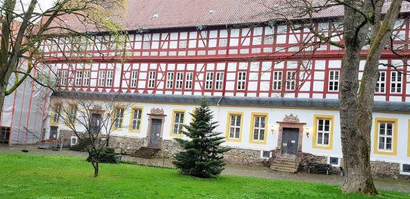 Der Sieberflügel des Schlosses Herzberg, in dem heute das Amtsgericht residiert. (Foto: Förderverein Schloss Herzberg)