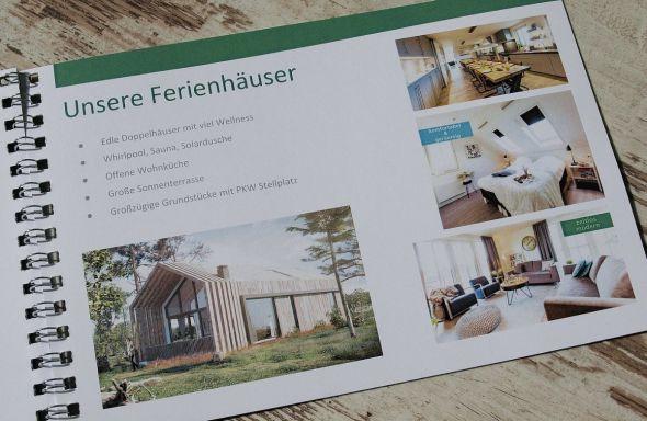 Die Projektpräsentation vermittelt ein erstes Gefühl vom angestrebten Stil der Häuser.