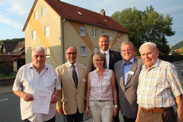 Von links: Heino Rumohr, Gerold Hoffmann, Ute Hirsch, Ingo Fiedler, Lothar Eckstein und Siegfried Schneider.