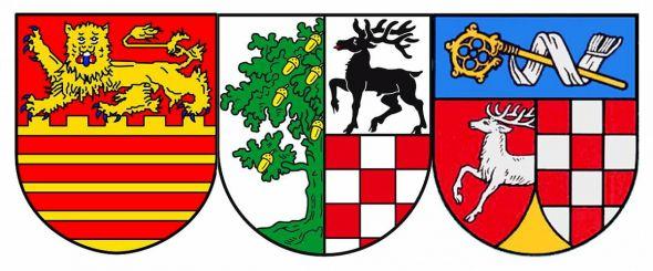 Finden die Gemeinden zusammen wie hier ihre Wappen? Von links: Bad Lauterberg, Bad Sachsa und Walkenried.