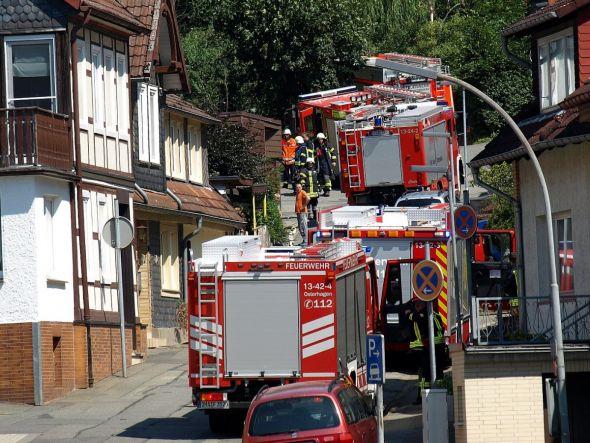 Der Klimawandel bedeutet wohl auch mehr Großeinsätze für die Feuerwehren – wie hier beim Waldbrand am Bad Lauterberger Kummel im Juli 2018. (Archivfoto: Boris Janssen)