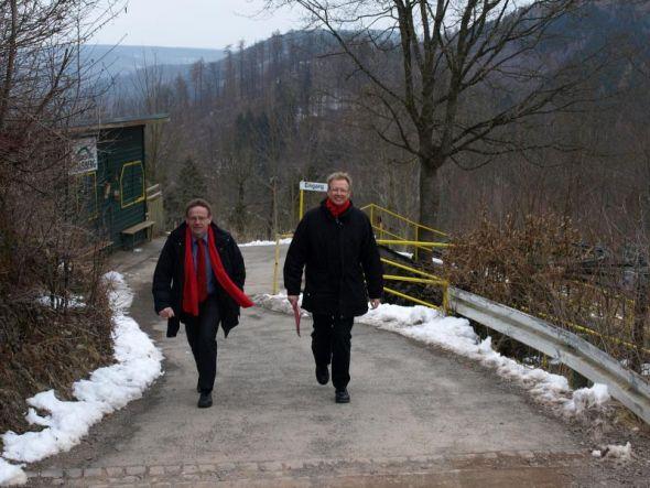 Hohes Ziel in Angriff genommen: Karl-Heinz Hausmann (links) und Thomas Gans.