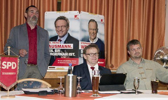 Die Referenten Uwe Speit, Karl Heinz Hausmann und Lutz Riemann.