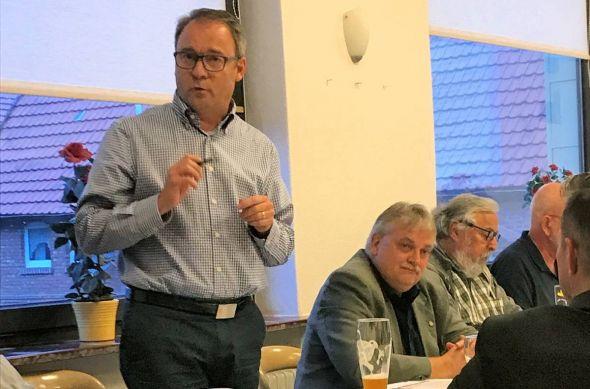 Landtagskandidat Andreas Körner (CDU) referierte über Ortsräte mit ihren Vor- und Nachteilen. (Foto: nh/CDU)
