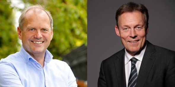 Der bisherige Vorsitzende der SPD-Bundestagsfraktion Thomas Oppermann (rechts, Pressefoto: Susie Knoll) hat sein Direktmandat verteidigt gegen Fritz Güntzler von der CDU (Pressefoto).