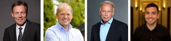 Sie vertreten künftig den Wahlkreis 53 Göttingen im Bundestag (v.l.): Thomas Oppermann (SPD), Fritz Güntzler (CDU), Jürgen Trittin (Grüne) und Konstantin Kuhle (FDP). (Fotos (v.l.): Susie Knoll / Pressefoto / Laurence Chaperon / Reiner Allgeier)