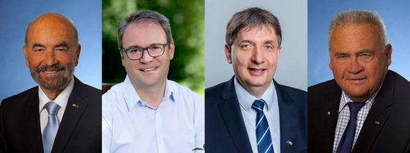 Der Vorsitzende der CDU-Kreistagsfraktion und seine Stellvertreter (von links): Dr. Harald Noack, Andreas Körner, Harm Adam und Lothar Koch.