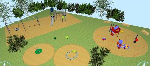 Bisher gibt es nur einen groben ersten Entwurf. Bald können endlich richtige Pläne für den Traumspielplatz gemacht werden. (Screenshot aus einer Präsentation des Kinderschutzbundes Bad Lauterberg)