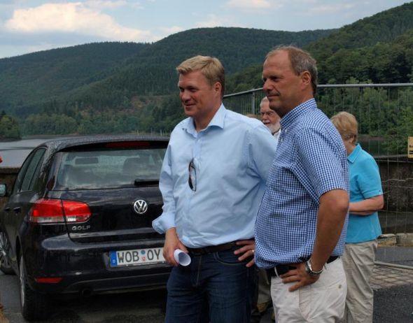Gehen gut gelaunt in den Bundestagswahlkampf: Ulf Thiele (l.) und Fritz Güntzler.