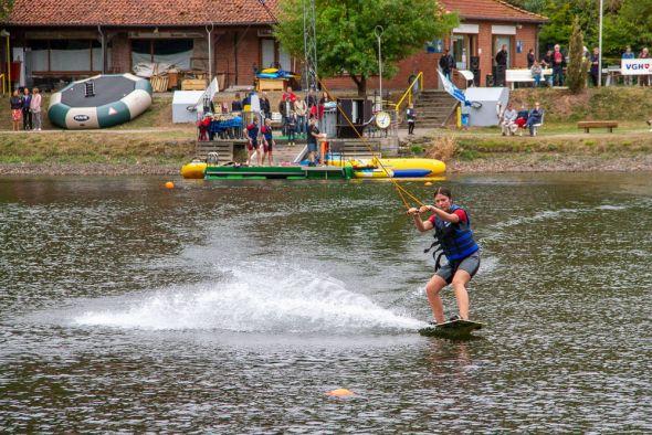 Geht es nach dem Landkreis, bleibt das letztjährige Wasserskivergnügen auf dem Wiesenbeker Teich eine einmalige Ausnahme…