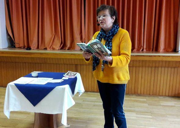 Die Autorin Helga Häusler begeisterte mit ihrem Vortrag...