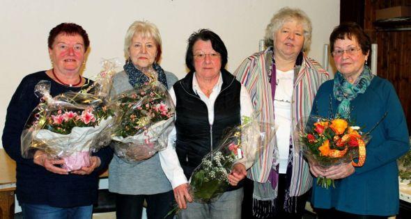 Der Vorstand (von links): Gerlinde Bockfeld, Ingrid Preimann, Marlen Waßmann, Ruth Jürgens und Heydrun Pechstein.