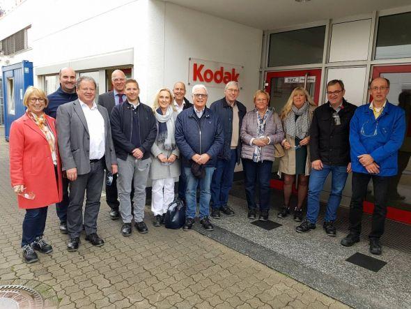 Die Rotarier mit Dr. Tobias Wittig (rechts) bei der Führung.