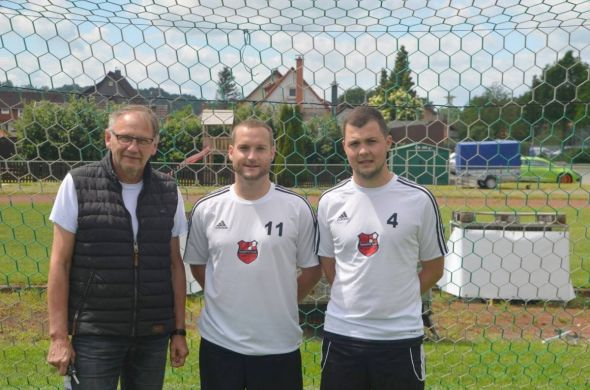 von links: Klaus Henkel , Benjamin Geisler , Andre Luthin