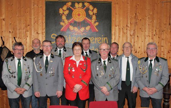 Der Vorstand des Schützenvereins Bartolfelde.