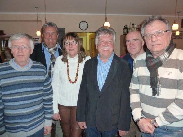 Der Vorstand und seine Helfer (von links): Otto Matzenauer, Roland Stahl, Gabi Alter, Gero Fröhlich, Harald Fieker und Peter Lehnen.