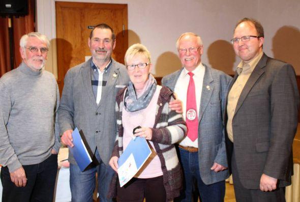 Von links: Klaus Dreßler, Uwe Speit, Gabi Fricke, Wolfgang Tölle, Steffen Müller