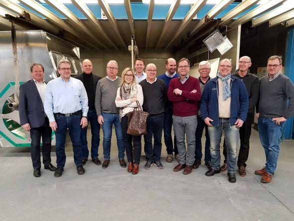 Die Mitglieder des Rotary Clubs Bad Lauterberg-Südharz bei der Besichtigung des Werkes.