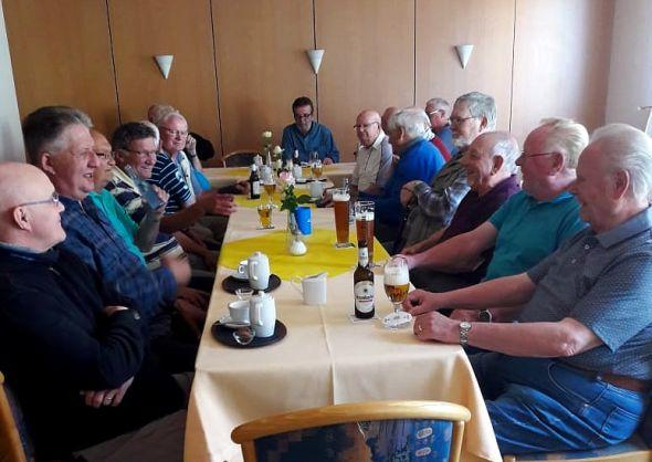 Die SoVD-Männergruppe beim Treffen im Vormonat.