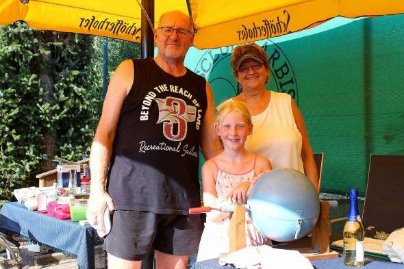 Das Team von der Lostrommel: Karl-Heinz Wolter, seine Enkelin Mirja Wolter und Doris Illhardt.