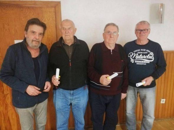 v.l.n.r.: Siegfried Weisemann, Siegfried Seliger, Manfred Witthuhn und Reiner Fricke, Bild: Hüseyin Yavuz