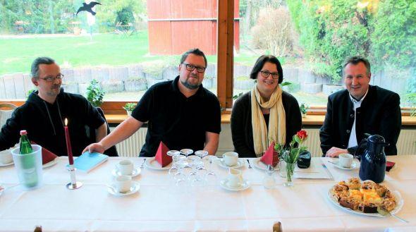 Diskutierten über Grenzen und Chancen der Inklusionswirklichkeit (von links): Arne Gruppe, Harry Seeger, Katja Golonska und Oliver Bollmann.