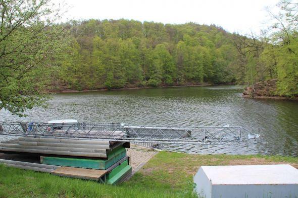 Die mobile Wasserskianlage wurde im letzten Herbst abgebaut.