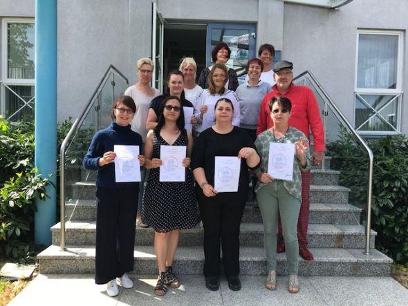 Die TeilnehmerInnen mit ihren Dozenten Astrid Döbrich , Frau Dr. Boettiger und Cornelia Bär