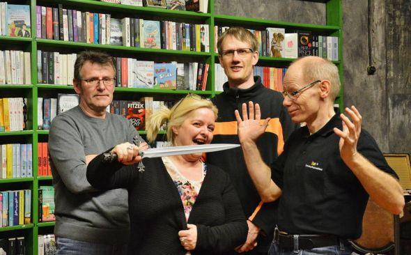 Roland Lange, Christoph Lampert (hinten), Susanne Kinne, Andreas Sack