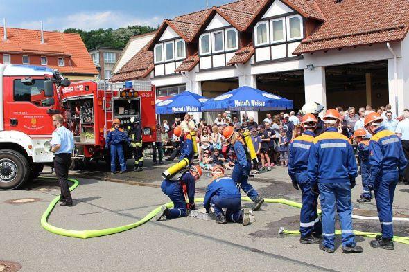 Demonstration der Jugendfeuerwehr. Foto: Jan-Boy Dietrich, FFW Bad Lauterberg
