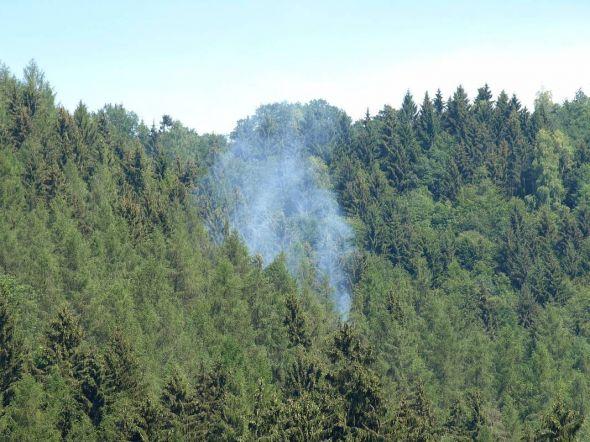 Rauchentwicklungen und Brände – wie hier beim Waldbrand am Kummel – immer sofort der Feuerwehr melden, bittet der Kreisbrandmeister.