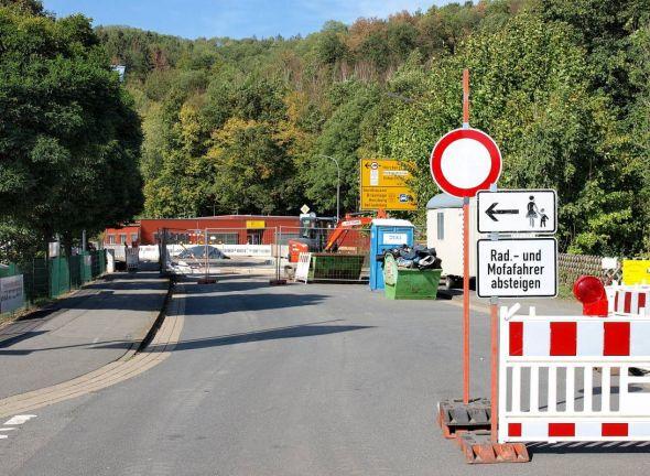 Wird erst 2019 fertig: Die Oderbrücke am Zoll in Barbis.