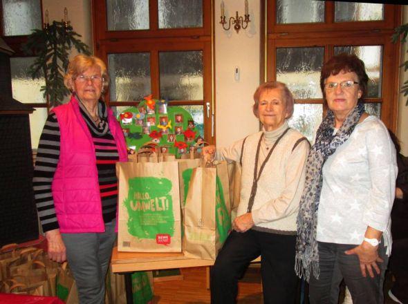 Lilli Gans, Karin Strauß, Christine Hüser (von li.)