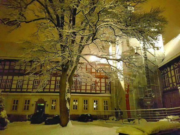 Romantische Stimmung im Schlossinnenhof. (Foto: Mantek)