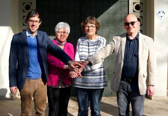Freuen sich über die neue  (von links): Pastor Dr. Gerhard Bergner und aus den Kirchenvorständen Elisabeth Kienzle (Herzberg-Christus), Ursula Kohlrusch (Sieber) und Thomas Beck (Lonau).