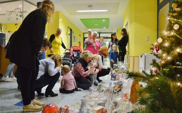 Im Dezember 2018: Plötzlich wurde es Weihnachten im Eichsfeld-Klinikum.