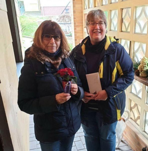 Links Marion Brille, rechts Kerstin Heinrich. Foto: G. Asche