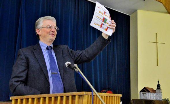 Da könnt's langgehen: Dr. Uwe Brinkmann präsentiert den Fahrplan zum Perspektivprozess.